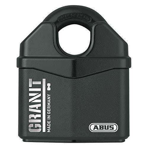 ABUS, Granit 37RK/80 SZP, 79172, hangslot, premium slot voor de hoogste eisen, verhoogde beugelbescherming, veiligheidsniveau 10, incl. 2 sleutels en veiligheidskaart, zwart