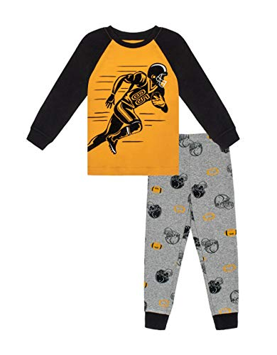 Petit Lem Boy 2Pc Pj Set: L/S Top and Pant Knit, 202 Golden Yellow, 6