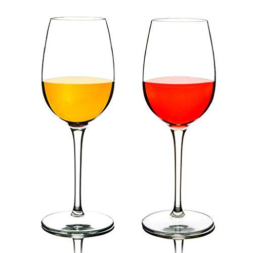 COOKY.D Verres à vin en Tritan-Plastique pour Vin Rouge 355 ML, 100% Incassable à Long Verres à vin Rouge, Lave-Vaisselle Garanti, Lot de 2