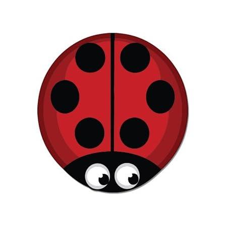 Ladybug Red with Love on Back Vinyl Car Window Sticker Cutout