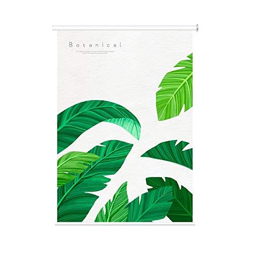 Persianas Enrollables 100% Opacas Diseño de Hoja Verde, Cortina de Ventana Impermeable para Dormitorio Cocina Sala de Estar, 80cm / 100cm / 120cm / 150cm de Ancho (Size : 120cmx260cm)