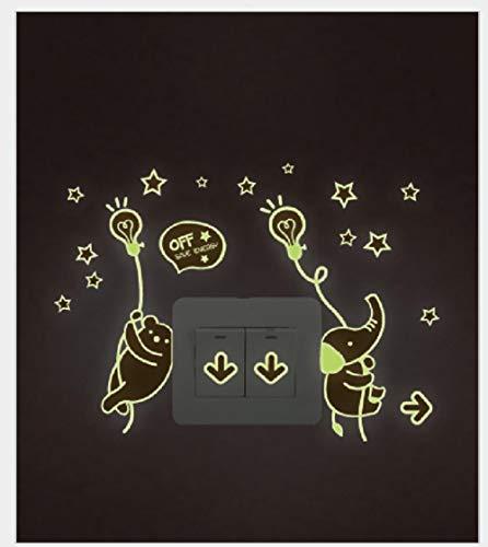 Pegatinas De Pared Decorativas Pegatinas De Interruptor De Lámpara De Mesa De Oso Pegatinas Luminosas Pegatinas Fluorescentes Dormitorio De Los Niños Pegatinas De Pared Decorativas 21 * 29,7 Cm