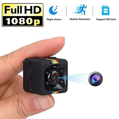 TBTUA Cámara de Seguridad Mini cámara espía Cámara Secreta Cámara espía 1080P con visión Nocturna por Infrarrojos y detección de Movimiento, pequeña cámara de vigilancia para el hogar