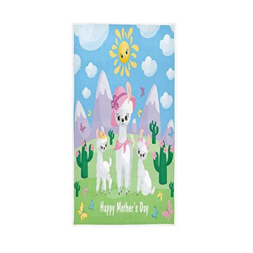 senya Hand Towels Mothers Day Cute Llamas Soft ...