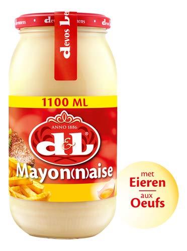 Devos & Lemmens - Mayonnaise - 1000 ml (1 kg) Flasche x 1 - Perfekt für Salate, kalte Fische und Fleischgerichte und natürlich Pommes Frites - Recycelbarer Behälter