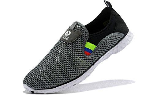 JUAN Herren Fitnessschuhe Walking Sneaker Workoutschuhe Mesh Laufschuhe Athletic Leicht Casual Sportschuhe, Grau (Grau T-038), 40 EU