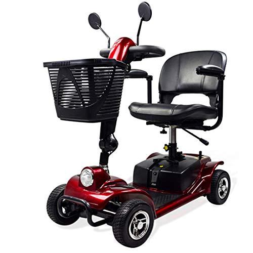 Takmeway Precio Movilidad eléctrica Plegable Silla de Ruedas Scooter con un Espejo retrovisor Faros LED para Ancianos y discapacitados