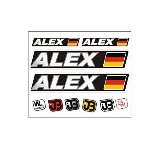 JOllify Alex Auto Fahrrad Motorrad Kart Helm Fahrername Aufkleber Sticker Flag