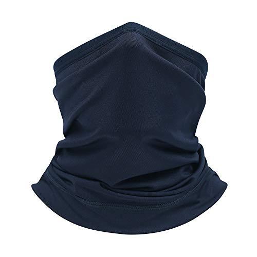 VIMOER buitensporten omvormingssjaal elastische zonnebrandcrème hoofddoek ademende naadloze tulband voor neus- en maanbedekking koningsblauw