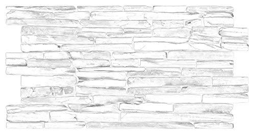Pannelli da parete in PVC, 3D, Quarzite Grigia (10 = 4,9 m2)