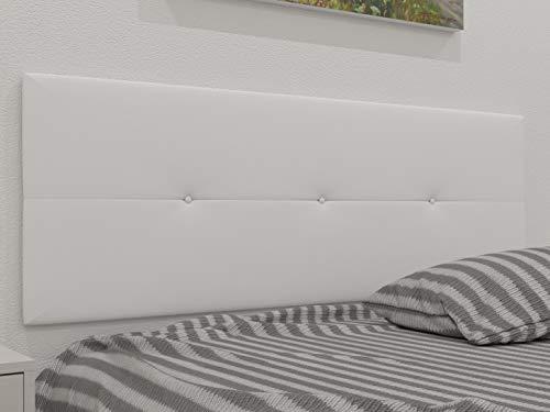 LA WEB DEL COLCHON - Cabecero tapizado Julie para Cama de 150 (160 x 55 cms) Blanco