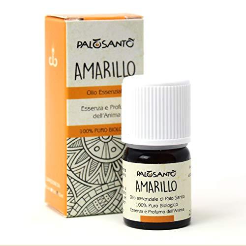 Aceite Esencial de Palo Santo Amarillo - 2,5 ml - Puro, natural y artesanal - Para masajes: nutre la piel - Para difusores: huele a casa, trae buen humor