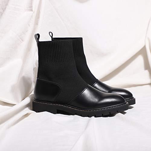 Shukun laarzen met dikke zolen voor dames, herfst en winter, modieuze sokken