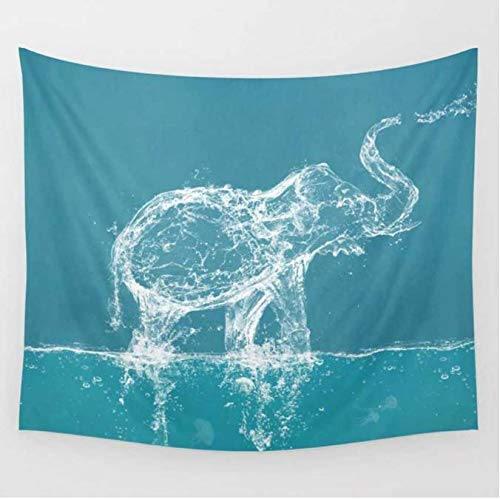 Elefanten-Wandteppich, bedruckt, Mandala, Wandteppich, Wohnzimmer, Comic-Decke, 150 x 200 cm