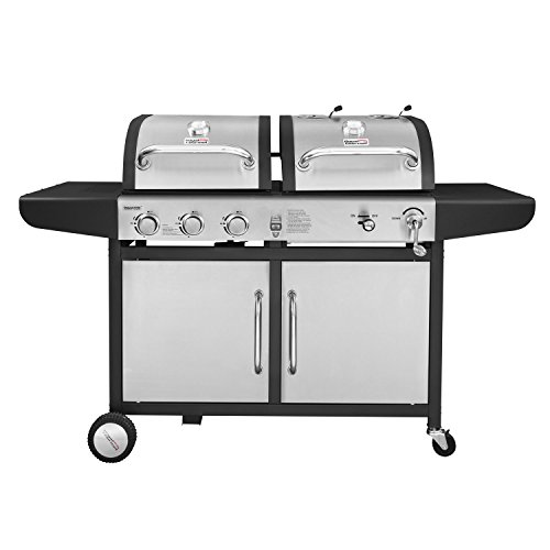 Royal Gourmet ZH3002-S 3-Burner Gas Charcoal Grill Combo (Stainless Steel), 742 Sq Inch