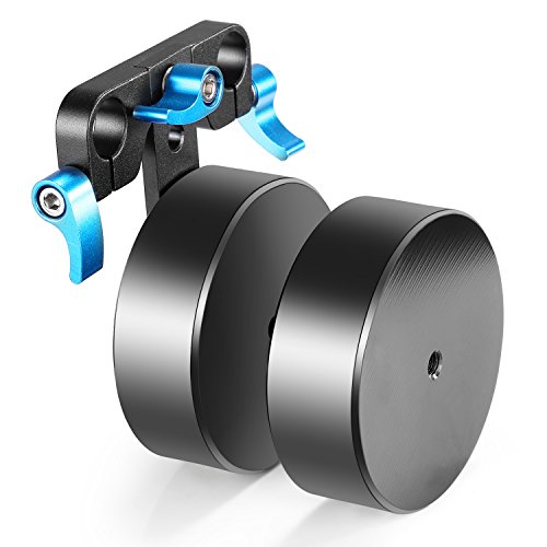 Neewer Aluminum Alloy 4.6lbs/2.1kg Removable Counter Weight for Balancing Shoulder Mount Rig Stabilizer Fits 15mm Rods(Blue+Black)