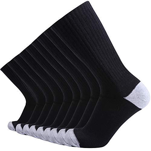 Enerwear-Coolmax 10P Pack Men's Cotton Moisture Wicking Heavy Cushion Crew Socks (10-13/shoe size...