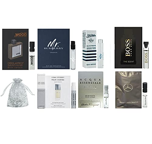 Men's cologne sampler set - ALL High end Designer perfume sample Lot x 8 Cologne Vials (Paul's choice)
