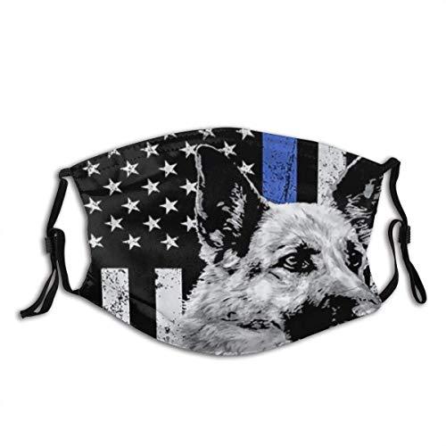 Gesichtsbedeckungsoffizier American Flag Apparel USA Dünne Blaue Linie Geschenk Sturmhaube Wiederverwendbarer Mund Bandanas Outdoor-Halsmanschette mit 2 Filtern