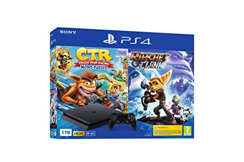 Sony playstation 4 slim 1tb + ratchet&clank + crash team racing
