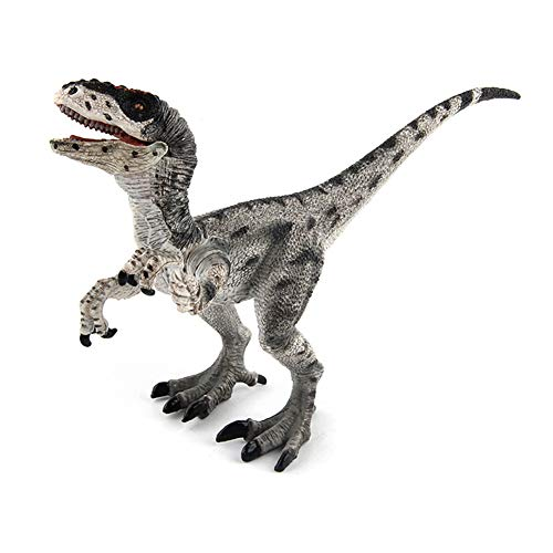Sytaun Figura De Acción De Dinosaurio Velociraptor Realista Colección De Modelos Decoración De Escritorio De Juguete Un Juguete Clásico para Mente Y Cuerpo Velociraptor Grey