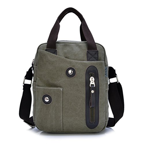 qs1104lv SUNROLAN Canvas Hand Bags/Shoulder Bag/Messenger Case/Crossbody Bags Fit for Air/Macbook Air 13 Inch/Kindle/Ereader