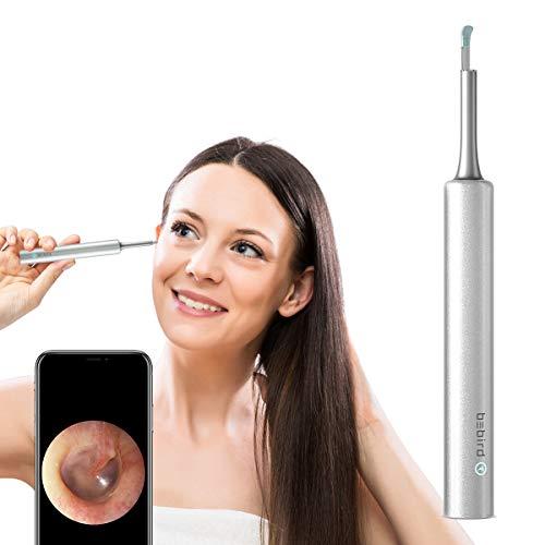 Otoscopio BEBIRD C3 Blanco Endoscopio Camara Endoscopica 2MP Otoscopio WIFI 4.5mm con 6 LED Ajustables para iOS Android Tabletas