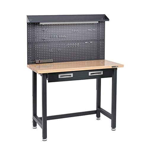 Seville Classics UltraHD Lighted Metal Workbench with drawers