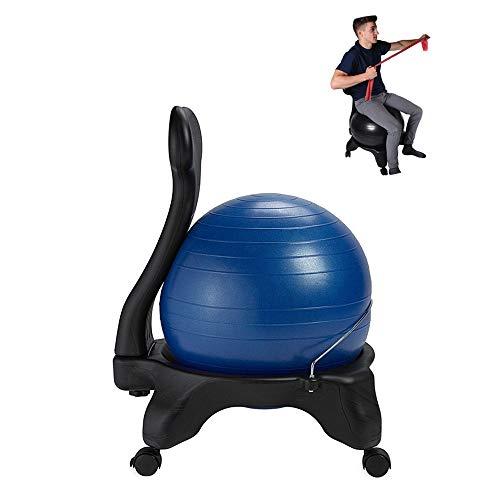 CCTYCC Balance Ball Stuhl, Hochwertiger und Stabiler Yoga Ball Premium Ergonomischer Stuhl mit Luftpumpe und Ball, für Heim- und Büroschreibtisch