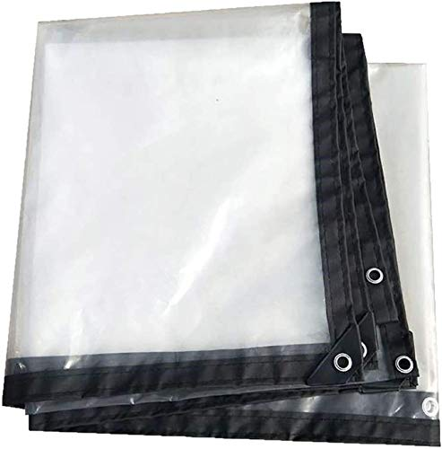 Large Cover Plane Waterproof Cover Waterproof, Cover Plane Transparent Plane with Eyelets Thickness, UV-Resistant, Tear-Resistant Tarpaulin for Garden Furniture Tarpaulin