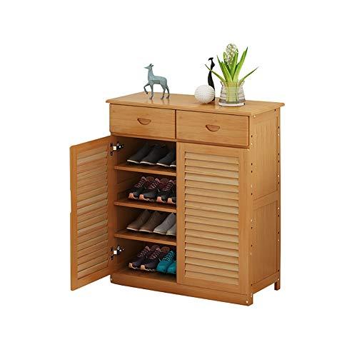 Etagère à chaussures Buffet en Bambou de Support de Meuble de Rangement pour Chaussures, Meuble de Rangement pour Chaussures avec tiroir 80x33.5x87cm (Taille : 4-Tier with Drawer)