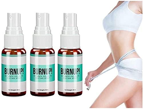 6 PCS Cellulite Chauffage Spray, Cellulite Chauffage Corps Relaxant Spray Perte de Poids Fat Burning Care Perte De Poids Spray (10ML)