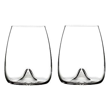 Waterford Elegance Stemless Wine Glass, Pair