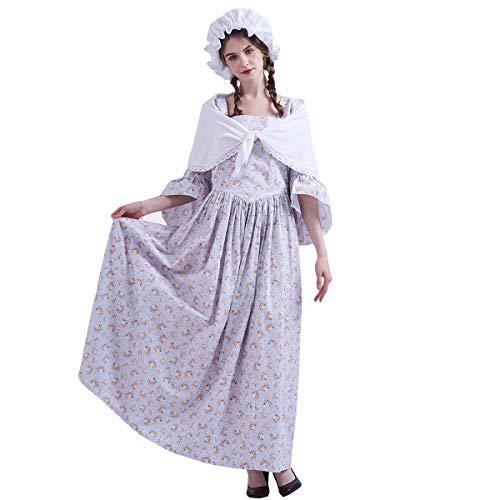 GRACEART Pioneer Colonial Women Costume Prairie Dress Grey size-14