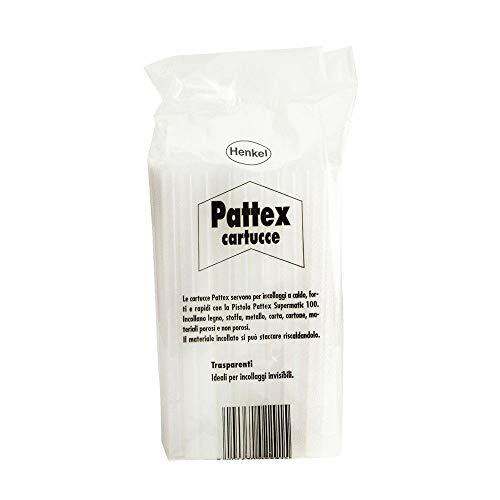 Pattex Colla a Caldo Trasparente Termofusibile Professionale 50 PEZZI Stick Ricarica 11 millimetri Spessore 20 Centimetri Lunghezza Extra Forte