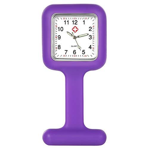 Lancardo Krankenschwesteruhren Damen Herren Ansteckuhr Silkon mit Clip für Krankenschwester Pfleger Doktor Analog Quarz Uhren