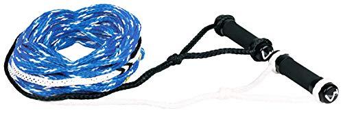 MESLE Wasserski-Leine Double Grip 75\', Länge 23 m, schwimmend, Klassische Doppelgriff Hantel, blau-weiß