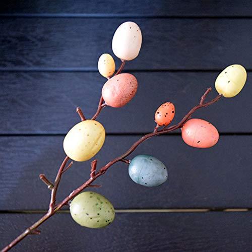 æ— Huevos de Pascua coloridos, 3 piezas de huevos decorativos colgantes de Pascua, árbol de huevos de Pascua, suministros de fiesta de primavera, decoración de jardín de infantes