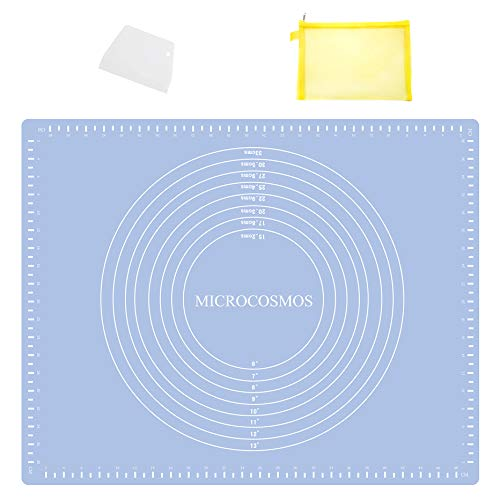 Extra Thick Silicone Baking amp Pastry Mat with Measurements NonStick Nonslip Countertop Safe EZ to Clean Great for Rolling Dough Kneading Fondant Cut Pasta Make Pizza Cookies196quot x 157quot