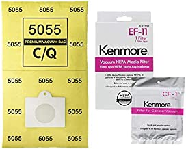 Casa Vacuums 81614 Bag and Filter Kit. 12 Bags + 1 EF-11 + 1 CF 1. Compatible with Kenmore 600 Series Bagged Canister Vacuum w/Pet PowerMate. Replaces Part #'s C/Q, 5055, 50558, 50104, 52370, 81002