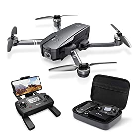Holy Stone HS720 Foldable GPS Drone with 4K UHD Camera for Adults, Quadcopter with Brushless Motor, Auto Return Home… 1 4K UHD Camera with Image Stabilization: The optimized full HD Camera built with Shock Absorption holder ensures shooting 3840 x 2160 high resolution images and videos without camera vibration. 5GHz FPV transmission and 90°adjustable lens enables you to see the word from different angle. GPS Assisted Intelligent Flight: Never lose the drone. It returns automatically whenever battery is low, signal is lost or you press one key return. Also, it is so smart to fly at your will, following you automatically, flying along a path you set, or fly around a point in circles. You may focus on your photography and creation. Configuration Upgrade: The 2 intelligent batteries works for 26 Mins/per battery for each charge; 52 Mins in total with 2 batteries; the long-life Brushless Motors have lower power consumption and give you a quieter flight; the foldable design and well-fitted carrying case make it easy to take the drone outdoor. DON'T use batteries from other brands, which may cause product issue or safety concern! PRODUCT SUPPORT AVAILABLE!