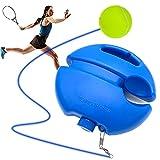 Tennis Trainer Solo, Jokari Jeu avec élastique et sa Balle de Tennis Enfant/Adulte, Materiel d'entrainement de Plein air avec sa Base pour Jouer Seul. Votre entraineur de Tennis