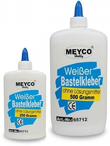 Bastelkleber 250g + 500g, weisser Bastelkleber, Meyco