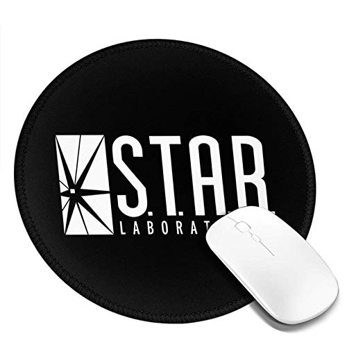 Yuanmeiju Rundes Mauspad S.T.A.R. Labs Mousepad Non Slip Mouse Pads for Computers Laptop Office Hemmed Mouse Pad 7.9x7.9 in