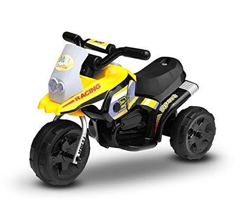 MEDIA WAVE store Motocross électrique LT853 pour Enfant Pocket monoplace 6V à 3 Roues - Jaune