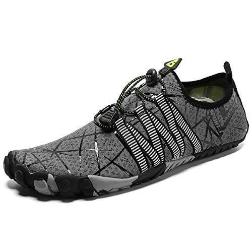 Zapatos de Agua Hombres Mujeres Calzado Acuático Seco Rápido Anfibio Deportes Unisex Escarpines Ligero Suela Duradera para Senderismo Buceo Natación Surf Playa Piscina Ejercicio Acuático
