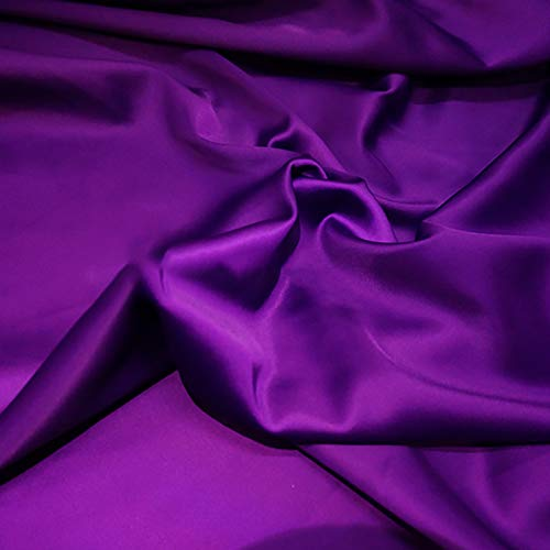 MUYUNXI Tela De Raso Forro De Tela para Vestidos De Novias Fundas Artesanas Vestidos Blusas Ropa Interior 150 Cm De Ancho Vendido por 2 Metro(Color:prpura)
