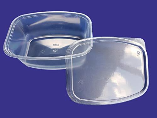 Azpack - Contenedores de Ensalada (500 ml, Tapa de plástico, 50 Unidades), 500 ml