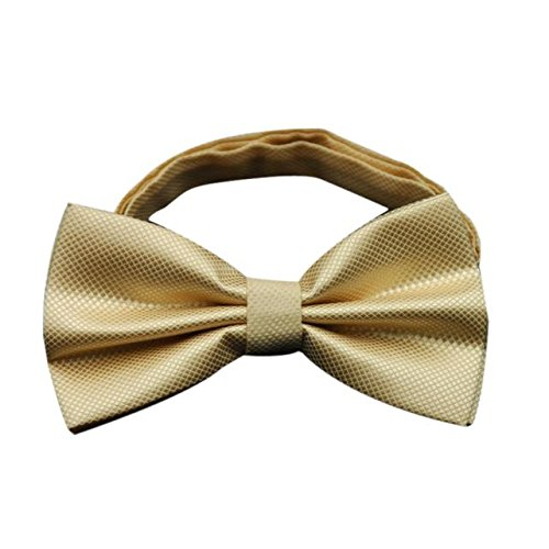 Gifts For Men ! Charberry Mens Bow Tie Butterfly Cravat bowtie Wedding commercial bow ties Cravats Accessories (Gold)