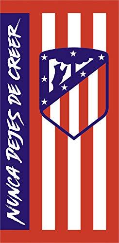 Atlético de Madrid. Toalla de Terciopelo Oficial del Club. 152x76cm. Rayas 2019